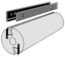 Set (12 stuks) HS Kobalt messen Brück-Systeem 460x18.6x0.9