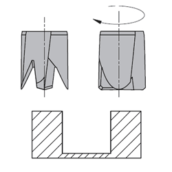 Drevelboor HWM Vlak S=10x30 D=5x30x70 Links