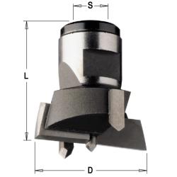 Cilinderkopboor verwisselbaar HW Z2+2 S=M12x1 D=45x30 Rechts