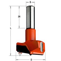 Cilinderkopboor HW S=10x26 D=16x57.5 Links