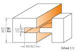Verstelbare 3-delige groef en messingset. S=12,7 T=5,15-13,5