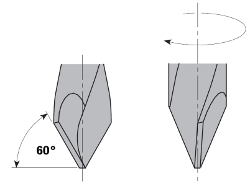 Drevelboor spits HW S=10x30 D=10x70x115 Links