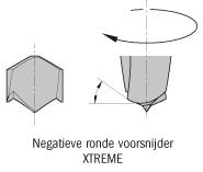 Drevelboor HWM S=10x45 D=1.3x5x70 Links-Rechts