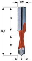 Drevelboor HW S=10x27 D=6x27x57.5 Rechts